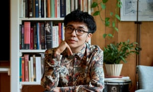 Author Ocean Vuong photographed at home in Florenece, MA, USA for the Observer New Review by Doug Levy