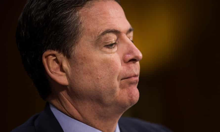 James Comey, the director of the FBI, testifies before the Senate intelligence committee on 'Russian intelligence activities' on Tuesday.