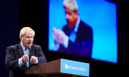 Boris Johnson gets into his stride at the Conservative party's annual conference in Manchester.