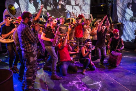 Counting Sheep stars the Lemon Bucket Orchestra, a 15-piece 'Balkan-klezmer-gypsy-party-punk-super band'