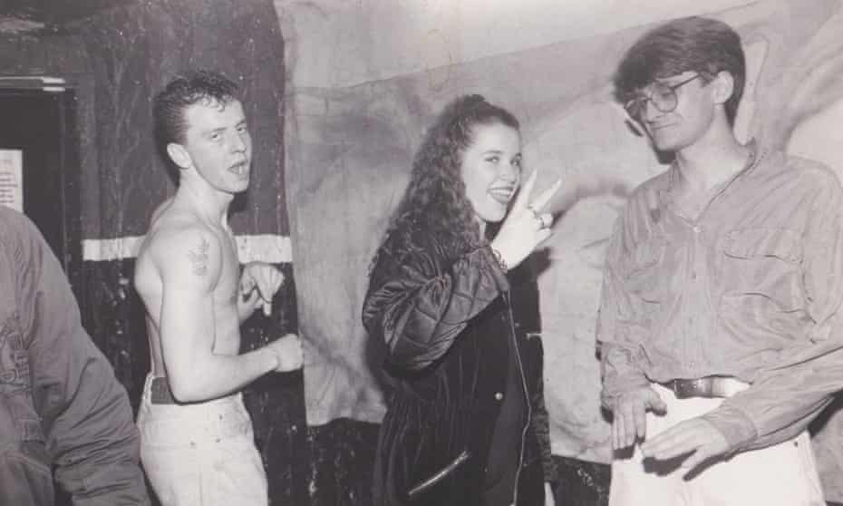 Wieczorek pictured with ravers at Labrynth.