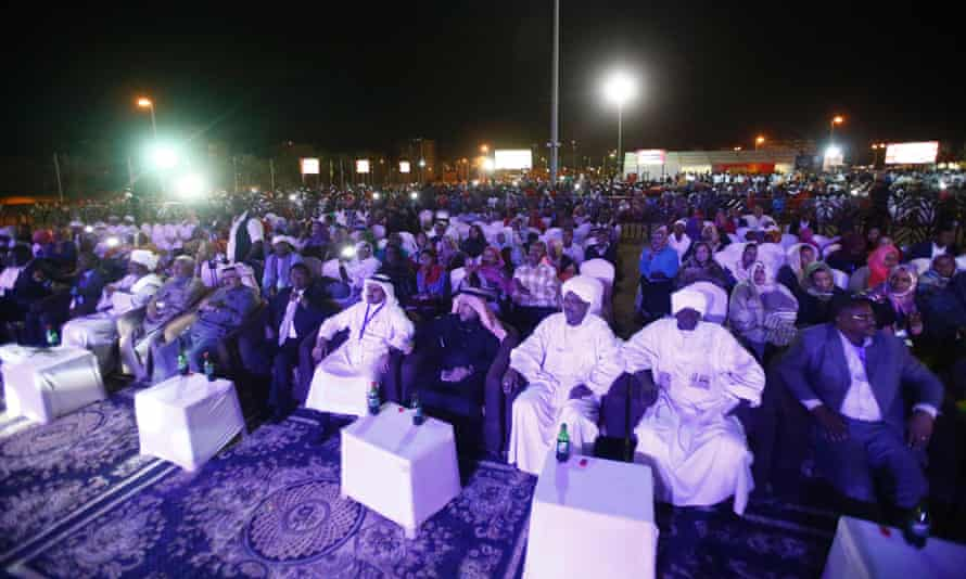 Fans enjoy The Nightingales at a concert in Khartoum in April