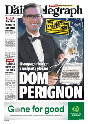 The front page of the Daily Telegraph
