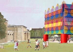 Rainbow warriors … the winning design for the Dulwich pavilion.