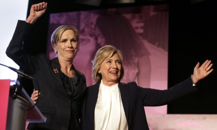 Cecile Richards, of Planned Parenthood, with Democratic presidential candidate Hillary Clinton