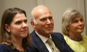 Vince Cable attends the announcement of his confirmation as leader of the Lib Dems.
