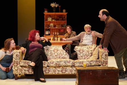 Denise Black, seated centre, weighs up a lucrative offer from Matthew Bulgo's Lewis.