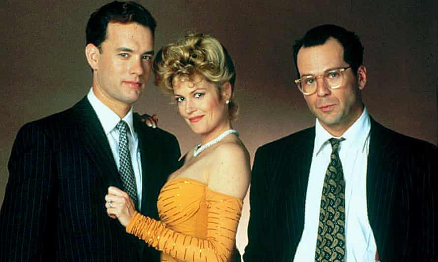 Miscast? ... from left, Tom Hanks, Melanie Griffith and Bruce Willis in The Bonfire of the Vanities.