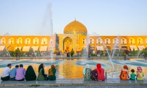 The Sheikh Lotfollah Mosque in Isfahan.