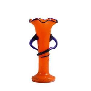 Vintage 'Tango glass' in uplifting orange: Frilled rim, £39, ceraudo.com