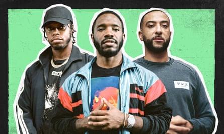 Well versed … Rap Game judges Krept, Konan and DJ Target.