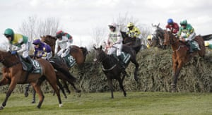 Rachael Blackmore on Minella Times (right) clear the Chair.