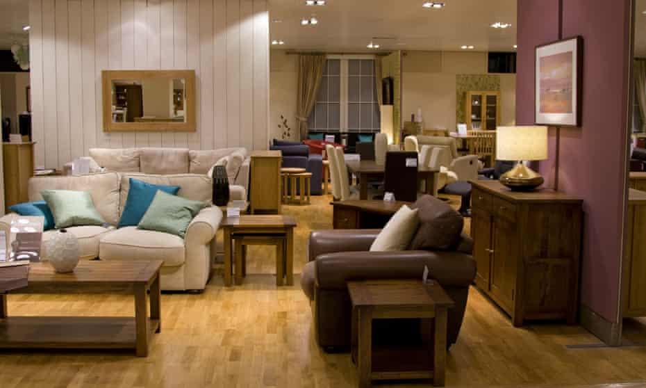 Furniture in John Lewis store