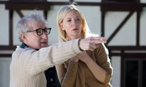 Woody Allen and Cate Blanchett on the set of Blue Jasmine in 2013.