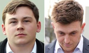 Jordan Munday (left) and William Simpson face travel bans.
