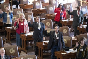 Texas presidential electors take the oath of office to cast ballots on Monday.