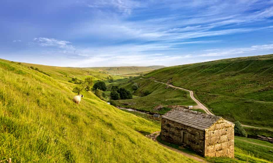 Evening sun on the Pennines in the Yorkshire Dales.