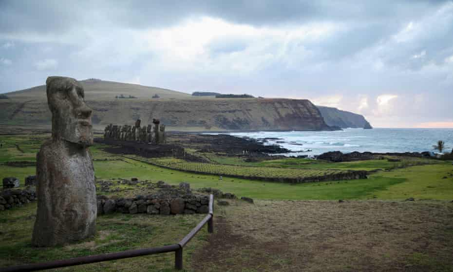 Moai statues on Easter Island.