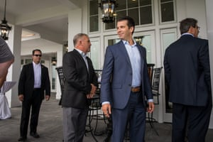 Donald Trump Jr at a Trump golf clubhouse in New York City.