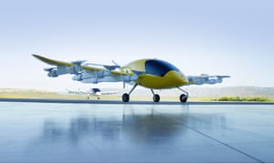 Kitty Hawk's experimental air taxi, Cora, 'is about the time you save soaring over traffic'.