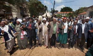 Kenyan Mau Mau War Veterans and their supporters.