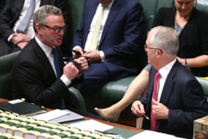 Prime Minister Malcolm Turnbull and leader of the house Christopher Pyne