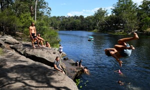 Swimmers at Lake Parramatta, Sydney
