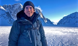An ever-changing landscape ... Simon Reeve in Alaska.