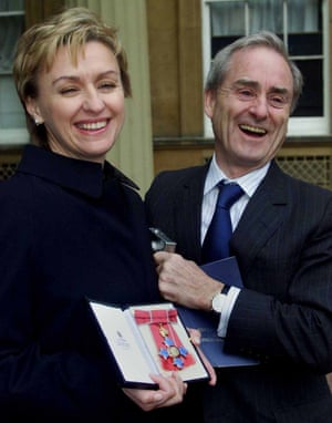 What an honour: Tina Brown with her husband Harold Evans after she received her CBE in 2000.