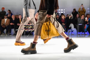 Milan, Italy Models walk the runway at the Fendi fashion show