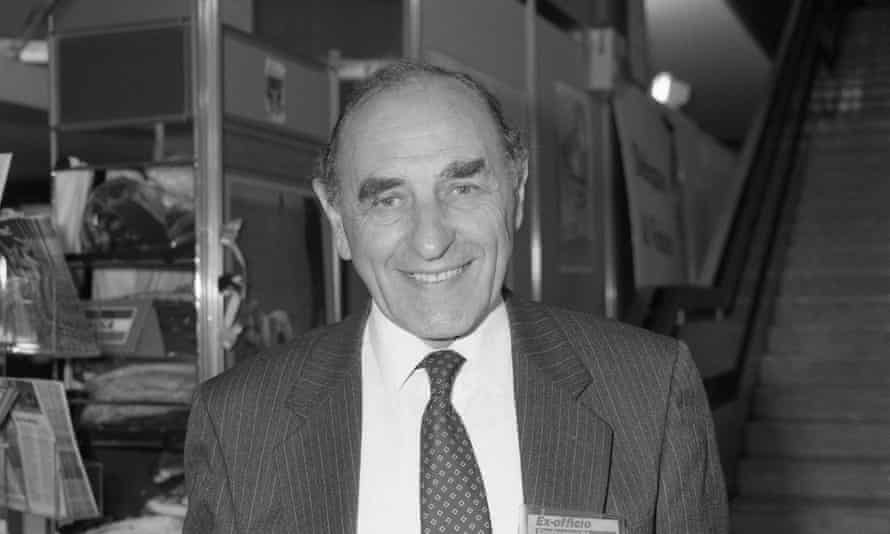 Robert Sheldon, MP for Ashton-under-Lyne, attending the Labour party conference in Brighton in 1991.