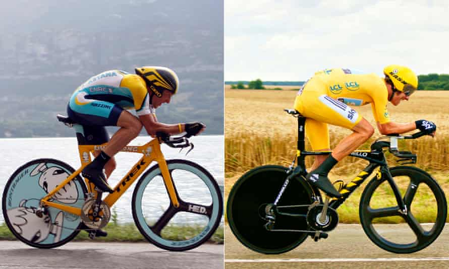 Lance Armstrong (left) and Bradley Wiggins