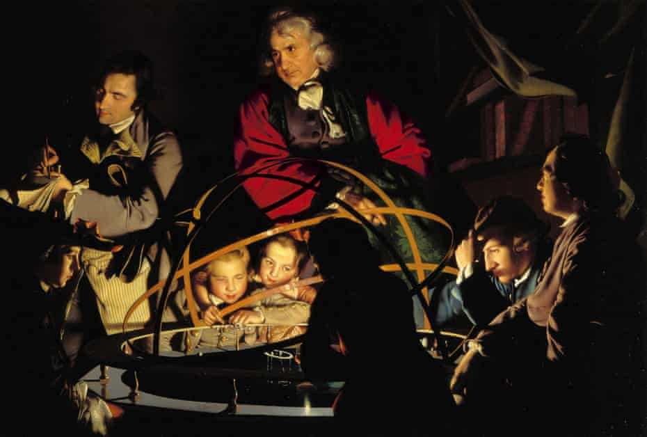 A Philosopher Lecturing on the Orrery, painting by Joseph Wright