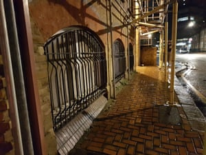 There are six flats in the basement of 3 Church Rd. Three have street-level barred windows while the others rely on light wells or high-level windows.
