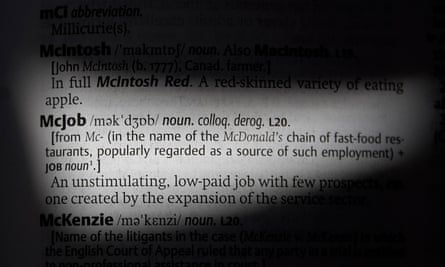 McJob definition Oxford English Dictionary