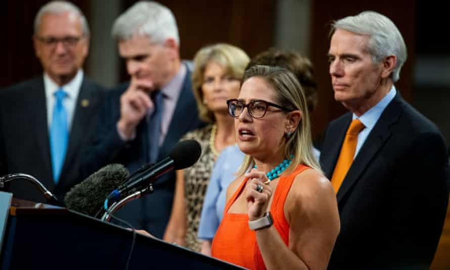 Senator Kyrsten Sinema: 'We know that this has been a long and sometimes difficult process, but we are proud this evening to announce this legislation.'