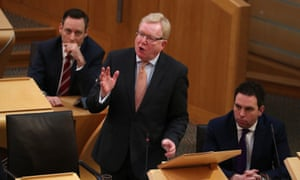 Jackson Carlaw during FMQs at the Scottish parliament.