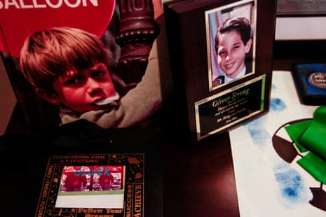Simon Strong and Vilma Tarazona Strong lost their 12 year-old son, Oliver to pediatric cancer four years ago. Oliver's parents have kept his room intact in their home in Miami Beach, Flo., June 27, 2019.