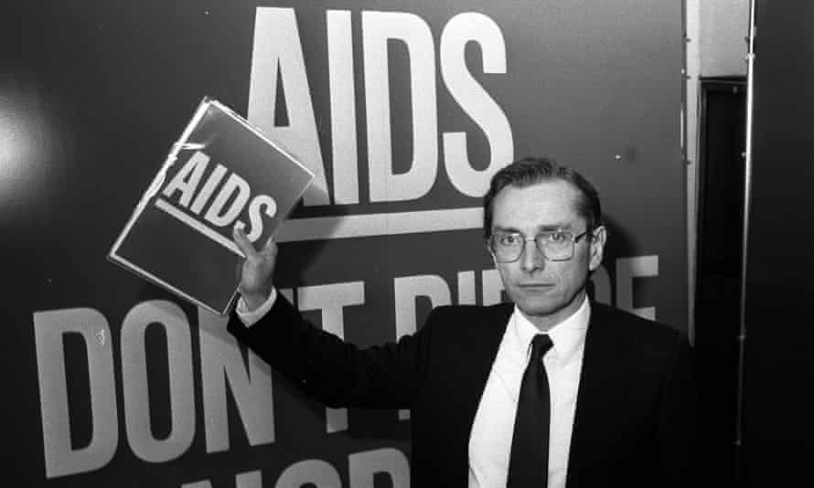 Fowler promoting his Aids awareness campaign.