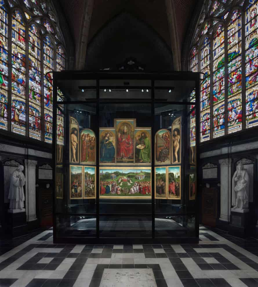 The 12-panelled polyptych will be located in the Sacrament chapel