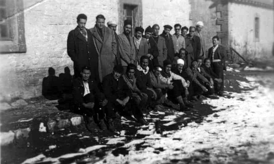 Imprisoned Algerian nationalists Bossuet internment camp Algerian war of independence.