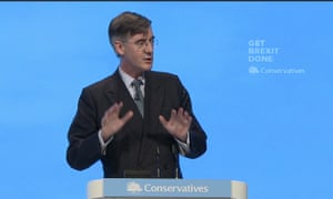 Jacob Rees-Mogg speaking at the Tory conference.