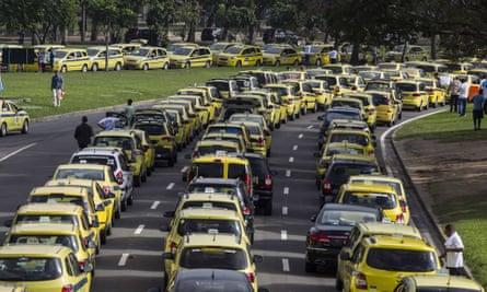 uber taxis rio de janeiro brazil