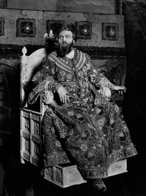 Russian Opera singer Feodor Chaliapin (1873-1938) in costume as Boris Godunov, 1910