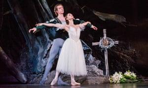 Vadim Muntagirov (Albrecht) and Marianela Nunez (Giselle) in Giselle by The Royal Ballet at the Royal Opera House.