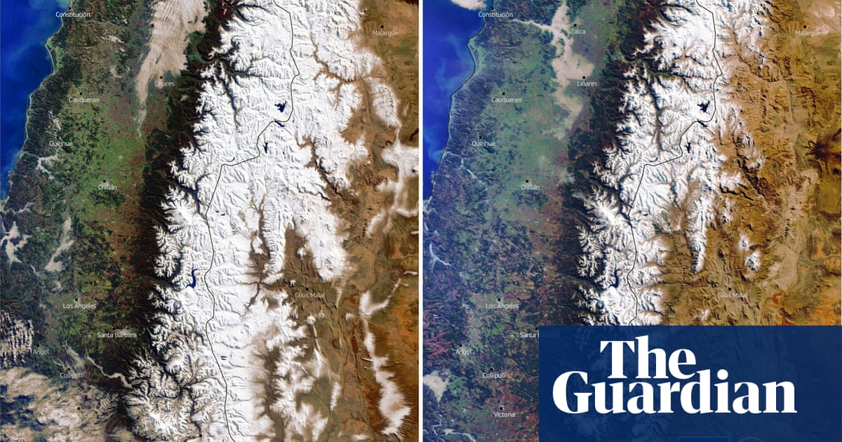 'Mega-drought' leaves many Andes mountains without snow cover