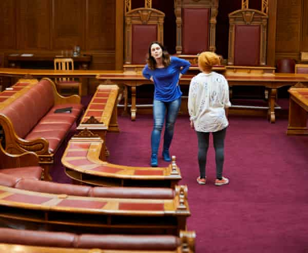 Courtroom drama … another scene in Trial's site-specific show of mini-plays.