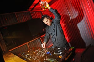 Mike Skinner plays a DJ set in London.