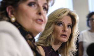 Summer Zervos, pictured with Gloria Allred, is seeking a retraction, an apology and compensatory and punitive damages.