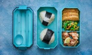 Shuko Oda's onigiri bento box.